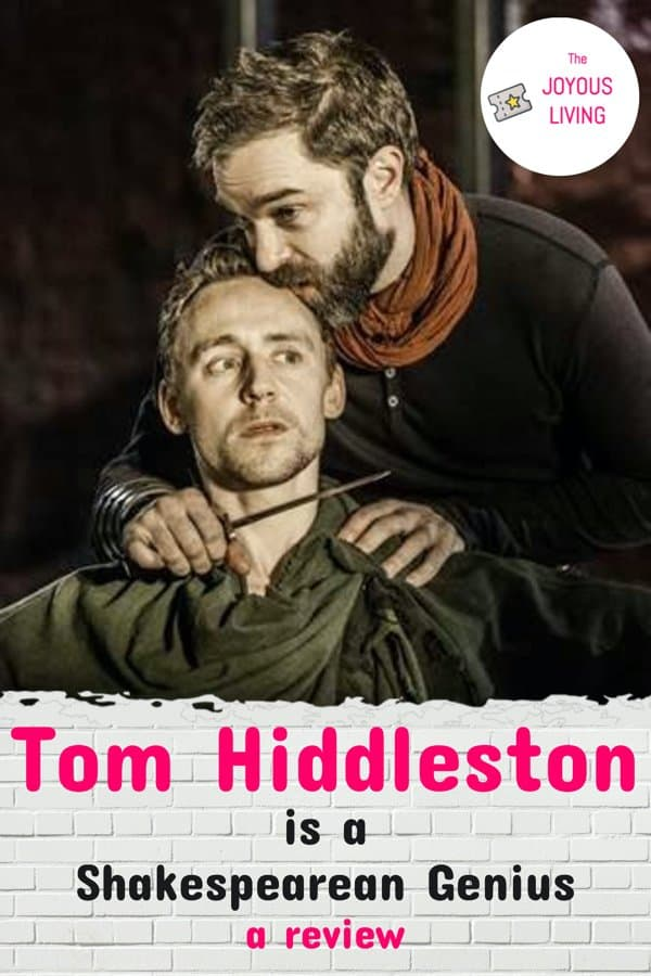 The moment I first noticed Tom Hiddleston #tomhiddleston #coriolanus #theatre #shakespeare #actor #thejoyousliving