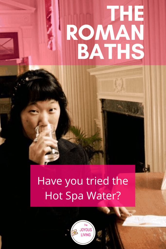 Have you tried the hot spa water at The Roman Baths? #romanbaths #bath #england #hotspa #water #travel #museum #thejoyousliving
