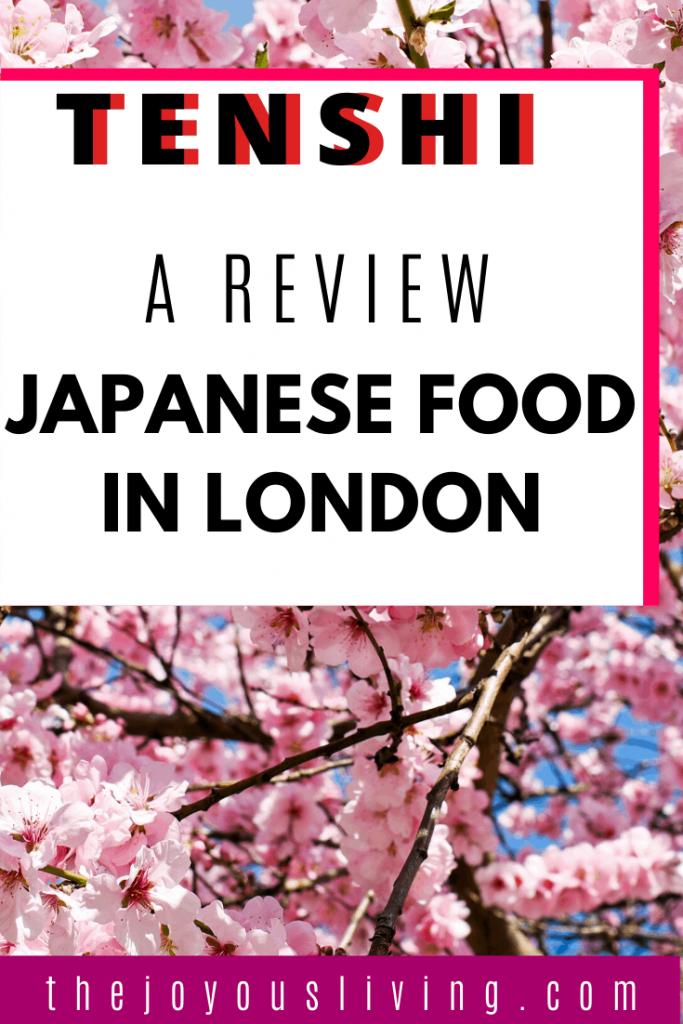 Fancy some Japanese food in London? #london #travel #food #islington #angel #tenshi #japanese #foodblogger #thejoyousliving