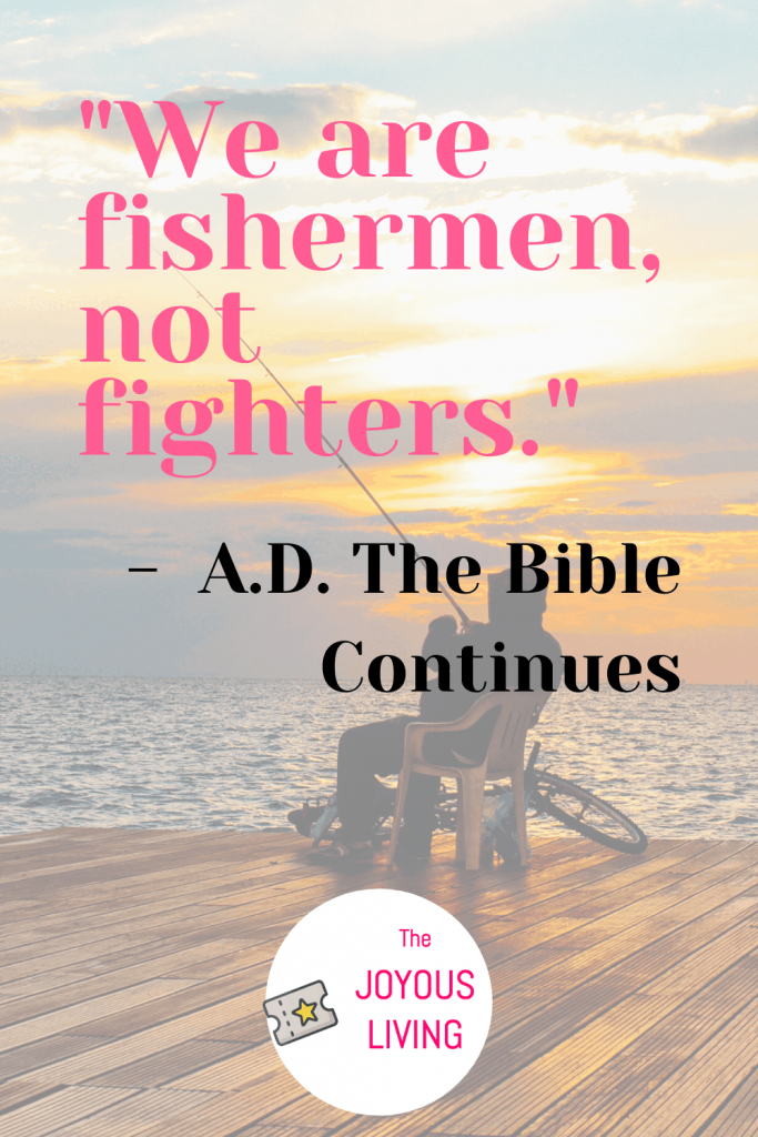 Christians are not the bad guys people like to make us out to be #christians #quote #thebiblecontinues #tvshow #quote #notfighters #thejoyousliving