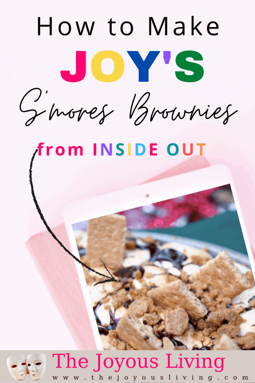 S'mores brownies recipe. Easy s'mores brownies recipe. How to make s'mores brownies in the oven. Disney Pixar recipe from Inside Out. Joy's More-is-More-is-S'mores Recipe from Pixar's Inside Out. #smores #pixar #disney #insideout #thejoyousliving