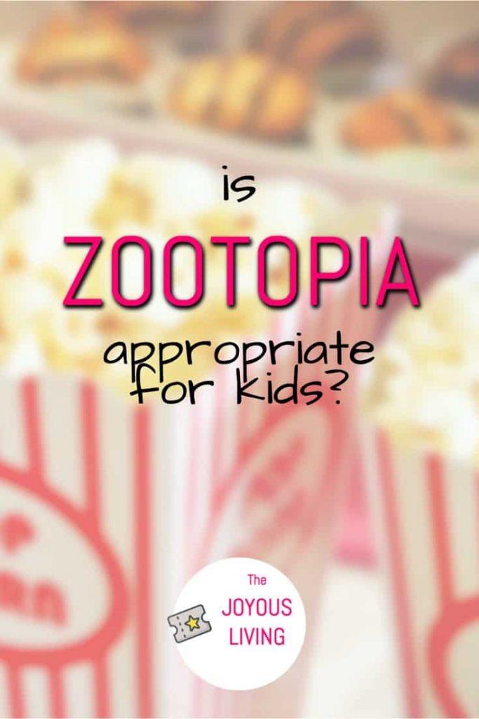 Is Disney's Zootopia appropriate for children? #zootopia #disney #movies #kids #thejoyousliving
