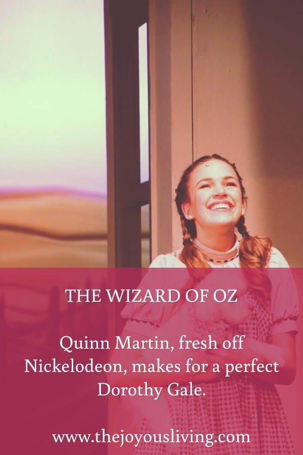 The Joyous Living: Quinn Martin is perfection in The Wizard of Oz at Conejo Players