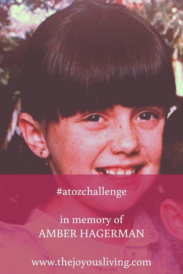 The Joyous Living: Remember Amber Hagerman as part of the #AtoZChallenge