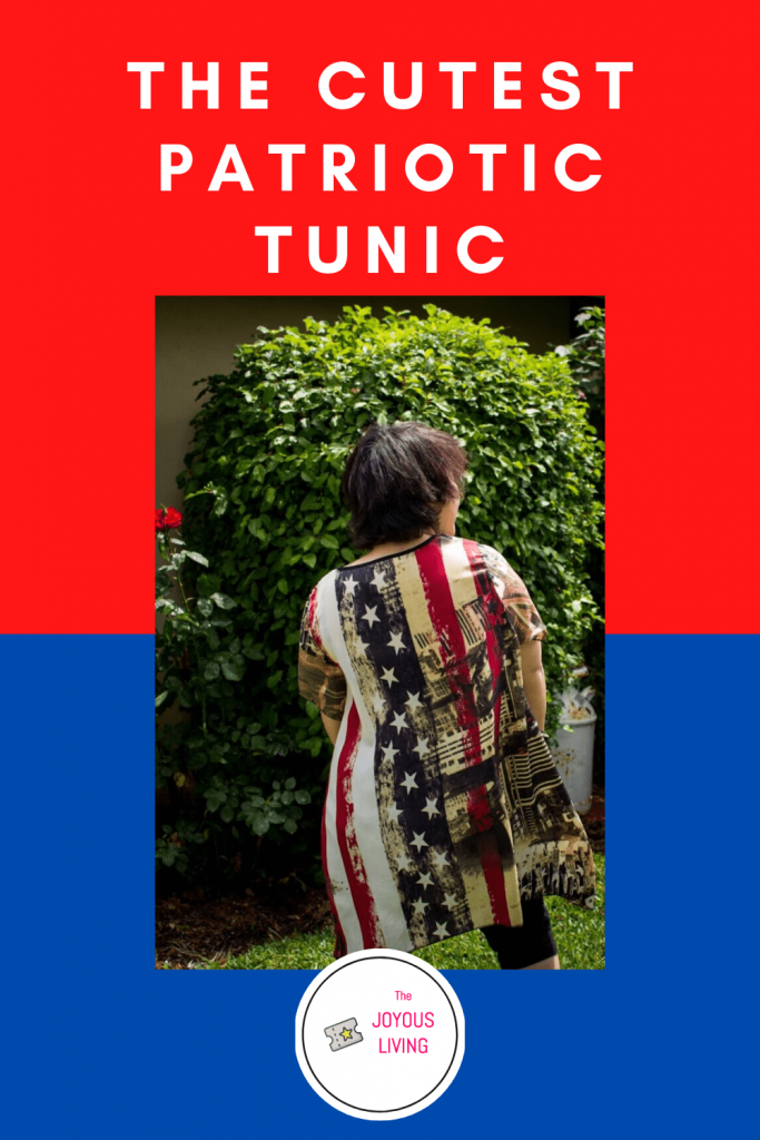 The cutest patriotic tunic #zulily #patriotic #tunic #simplycouture #americanflag #fashion #thejoyousliving