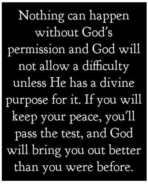 God HAS a plan...