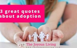 The Joyous Living: 3 Great Quotes about Adoption