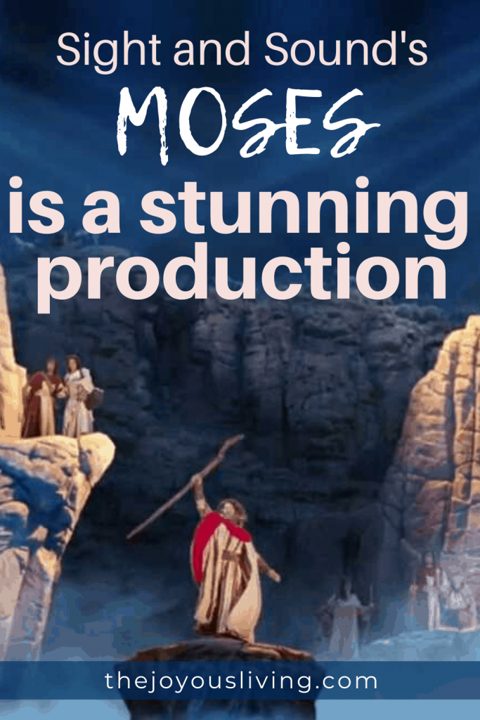 Looking for a Biblical musical of the highest quality? #moses #sightsoundtheatres #theatre #musical #movie #christian #thejoyousliving