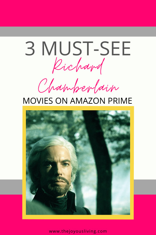 Did you know 3 of Richard Chamberlain's best movies are on Amazon Prime Video? See Richard Chamberlain as Edmund Dantes in The Count of Monte Cristo. Watch Richard Chamberlain sing as Prince Charming in the Cinderella musica, The Slipper and the Rose. Discover Richard Chamberlain as The Sun King in The Man in the Iron Mask. Three British period dramas to see on Amazon Prime Video. #richardchamberlain #cinderella #countofmontecristo #manintheironmask #britishdramas #perioddramas #thejoyousliving #primevideo