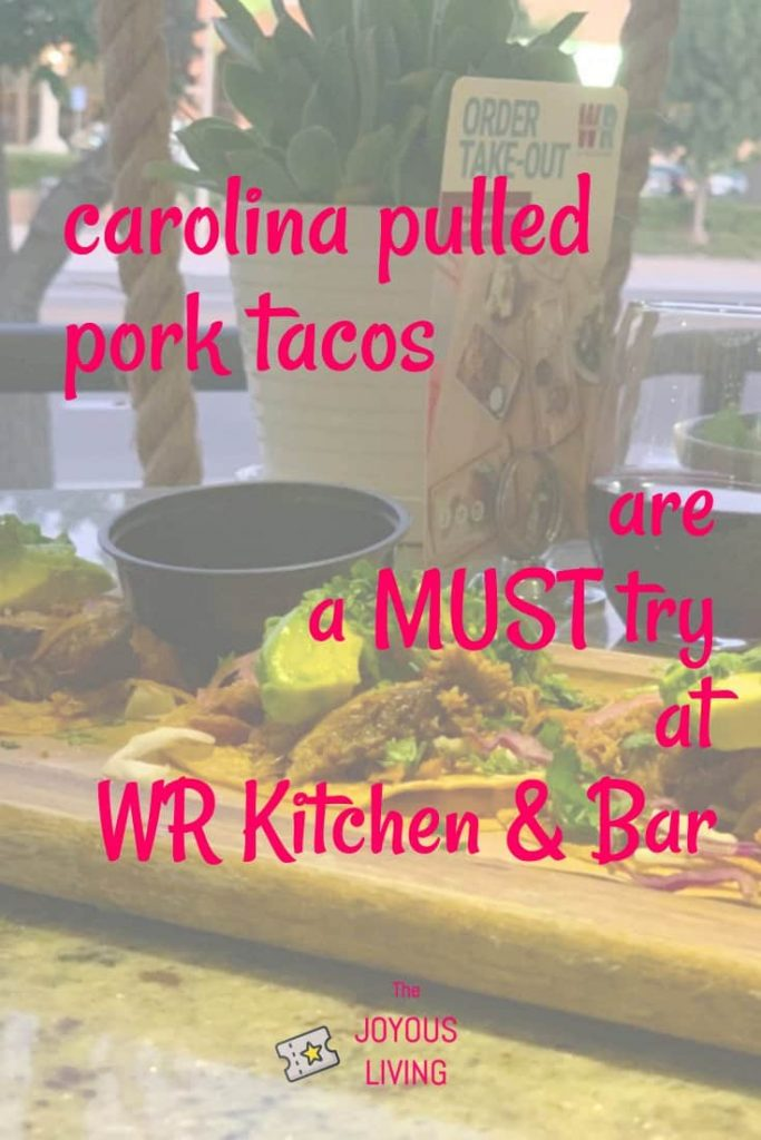 Must try tacos at WR Kitchen & Bar #wrkitchenbar #woodranch #food #tacos #pulledpork #lagunaniguel #orangecounty #restaurant #thejoyousliving #review