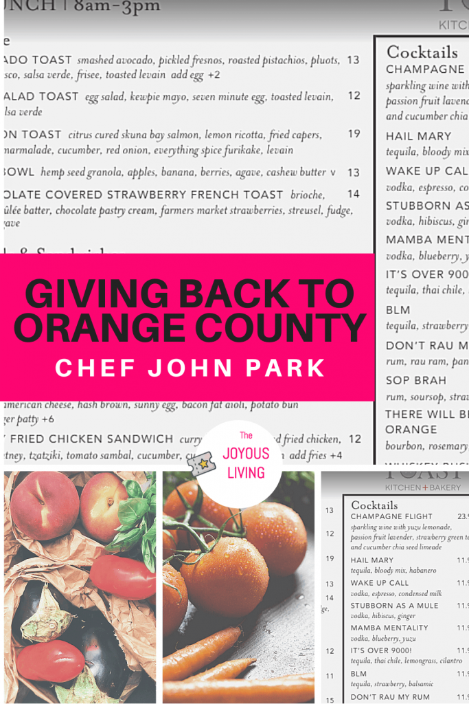 Orange County Chef John Park Gives Back #johnpark #orangecounty #food #costamesa #interview #philanthropist #givingback #supportsmallbusinesses #thejoyousliving