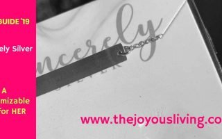 The Joyous Living: Sincerely Silver's customizable coordinates bracelets make a great gift for HER