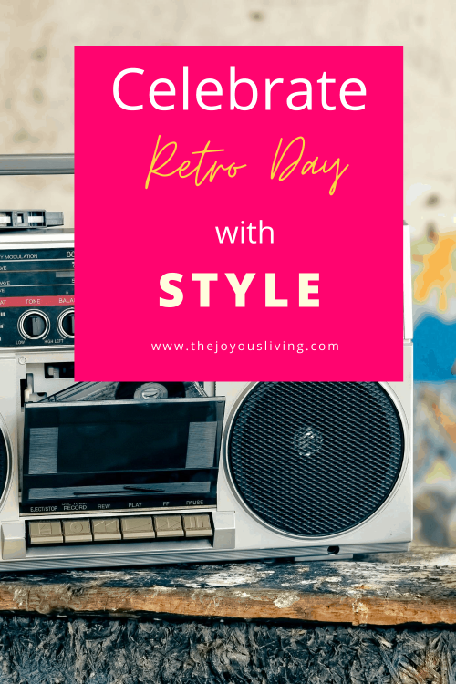 Celebrate National Retro Day with style. What are your favorite retro toys? Suggested retro fashions. National Retro Day ideas to celebrate. Kate Beckinsale is a favorite Retro Icon in Hollywood. #nationalretroday #retro #thejoyousliving