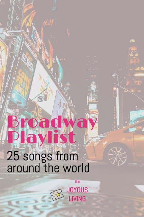What are your favorite Broadway tunes? #playlist #musicals #theatre #theater #broadway #music #thejoyousliving