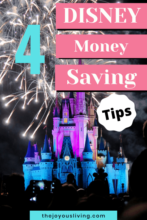 Going to Disney? Learn my 4 savings tips for BEFORE your trip! How to save money on your trip to Disneyland. Walt Disney World money saving tips. 4 Savings tips for a Disneyland trip. Disney money saving tips. Tips for saving money before your Disney World trip. #disneyland #disneyworld #disneytips #thejoyousliving