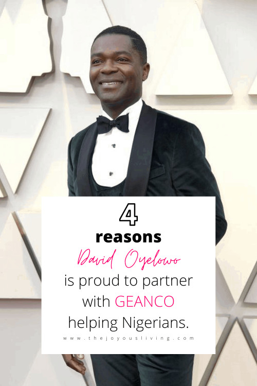 Selma actor David Oyelowo is proud to partner with Geanco in helping Nigerians. The David Oyelowo Scholarship for Girls helps young women find a better life in Nigeria. David Oyelowo speaks highly of his friend Afam Onyema. #davidoyelowo #nigeria #geanco #nonprofit #thejoyousliving