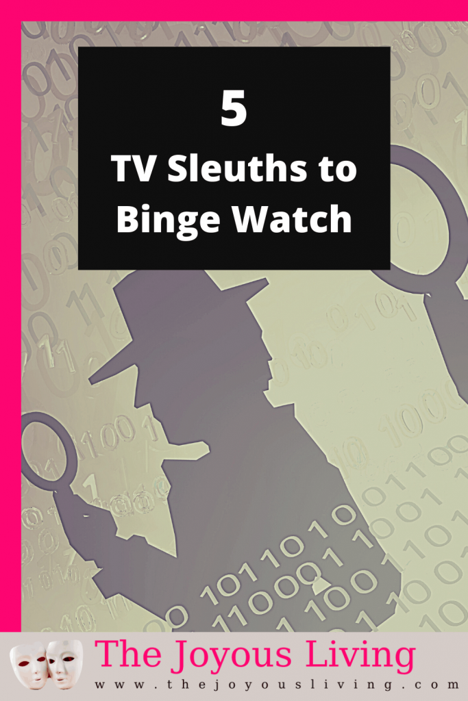 Want a new show to binge watch? How about one of these 5 t.v. slueths? #television #movies #movienight #bingewatching #detective #mystery #bosch #poirot #thejoyousliving