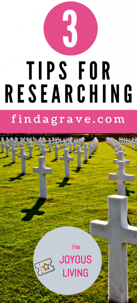 3 Tips for Researching FIND A GRAVE #ancestry #findagrave #genealogy