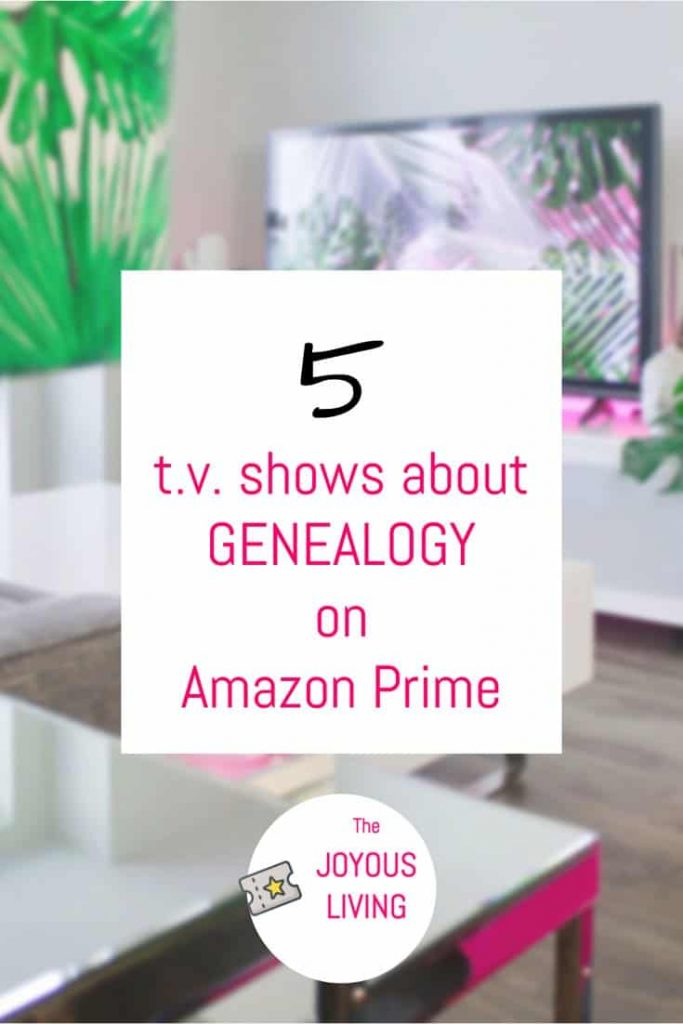 Looking for an educational TV SHOW to watch on Amazon Prime Video? #amazon #primevideo #educational #tvshow #genealogy #pbs #greatcourses #thejoyousliving #atozchallenge