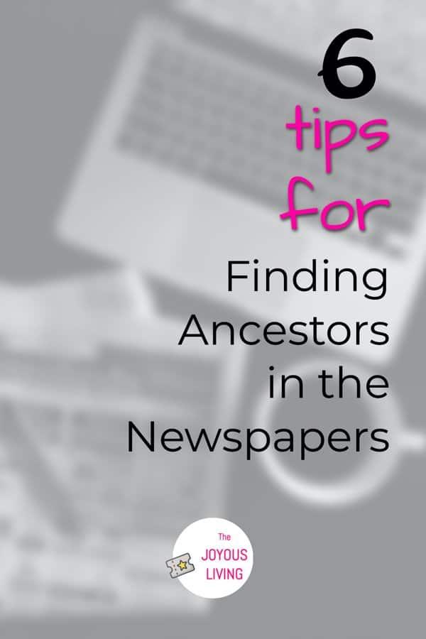 Genealogy Research Newspapers Tips #genealogy #research #newspapers #ancestry #nyshistoricnewspapers #thejoyousliving #atozchallenge