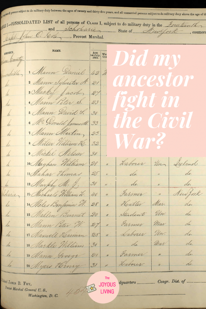 How can I find out if my ancestor fought in the Civil War? #civilwar #soldier #ancestry #genealogy #newyork #history #schoharie #atozchallenge #thejoyousliving