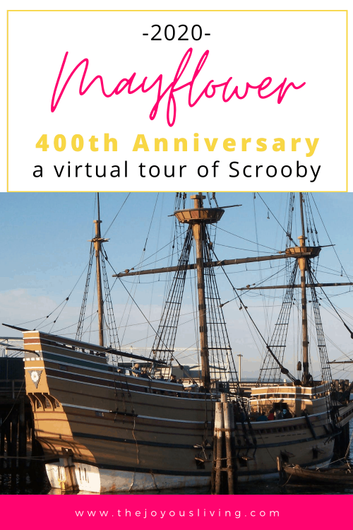 Celebrate the Mayflower 400th Anniversary with a virtual tour of Scrooby Nottinghamshire. Walk where the pilgrims did. For the 400th anniversary of Plymouth, take a virtual tour of Scrooby. Learn about Elder William Brewster from Scrooby Nottinghamshire who traveled on the Mayflower. #mayflower #plymouthpilgrim #williambrewster #virtualtours #thejoyousliving