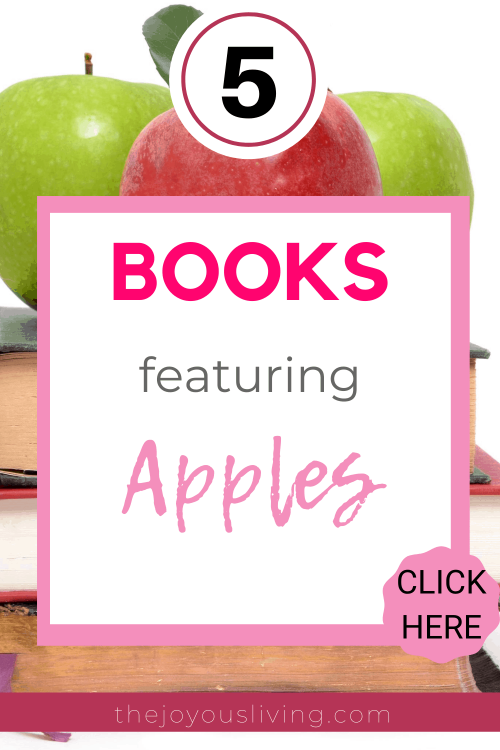 5 books about apples. Kids books about apples including The Giving Tree. Teen books with apples on the cover like Twilight. Apple recipes. #apples #bookblogger #booksaboutapples #applerecipes #bookstoread #thejoyousliving