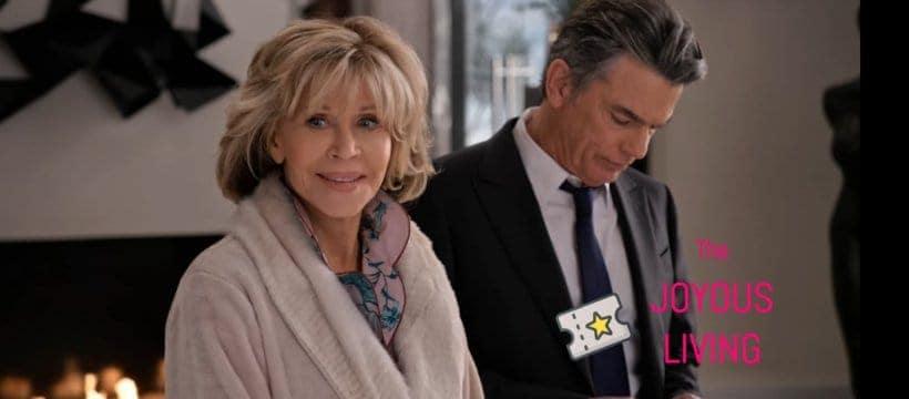 The Joyous Living: Jane Fonda's fleece robe in Grace and Frankie