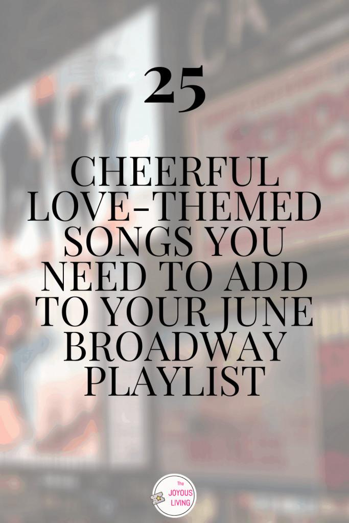 Broadway Love Playlist #broadway #lovesongs #love #broadwaysongs #playlist #theatre #musicals #thejoyousliving