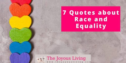 The Joyous Living: 7 Quotes about Race and Equality