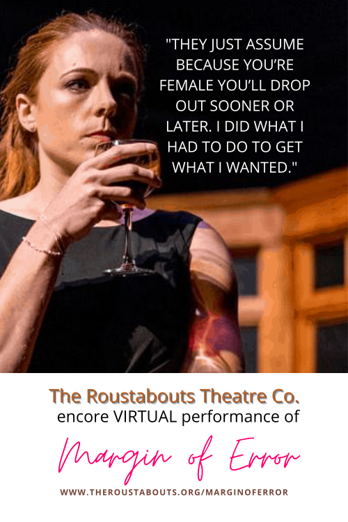 Virtual Encore, Roustabouts' Margin of Error Review. Theatre review of Margin of Error having its virtual premiere. Support the arts at The Roustabouts Theatre Co. #theatre #supportthearts #streaming #thejoyousliving #sponsored