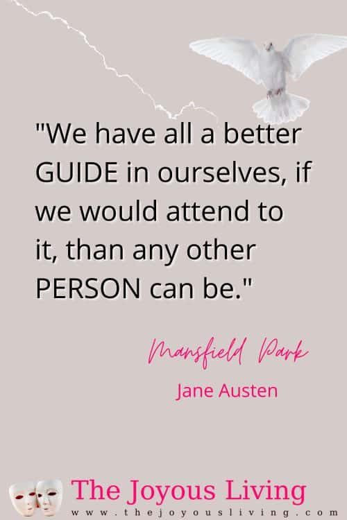 Jane Austen quotes. Jane Austen quotes from Mansfield Park. Quotes about the Holy Spirit. Quotes about faith. Literary quotes about faith. #literaryquotes #janeausten #janeaustenquotes #mansfieldpark #thejoyousliving #britishliterature