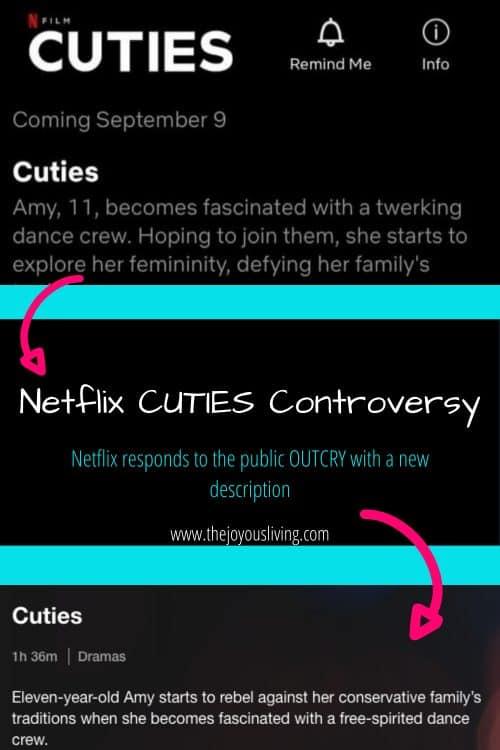 Netflix CUTIES controversy show description changed