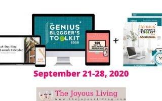 The Joyous Living: Genius Bloggers Toolkit 2020