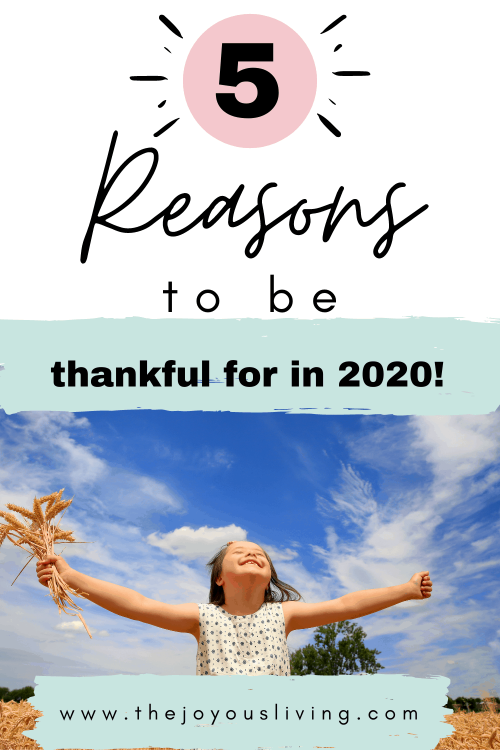 5 Reasons to Be Thankful. Counting my Blessings in 2020.