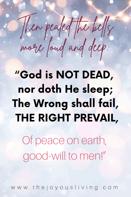 i heard the bells on christmas day. of peace on earth good will to men.