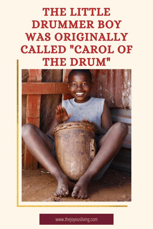 Little Drummer Boy. Carol of the Drum.
