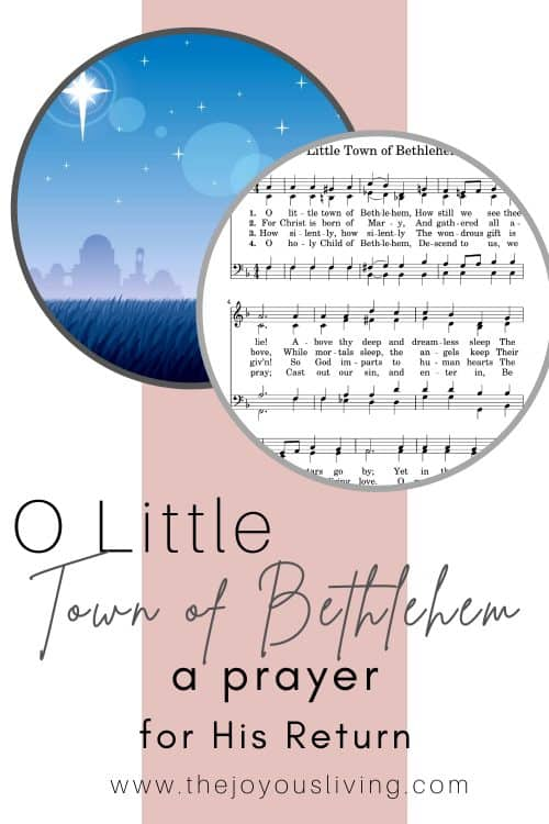 O Little Town of Bethlehem. Christmas lyrics.