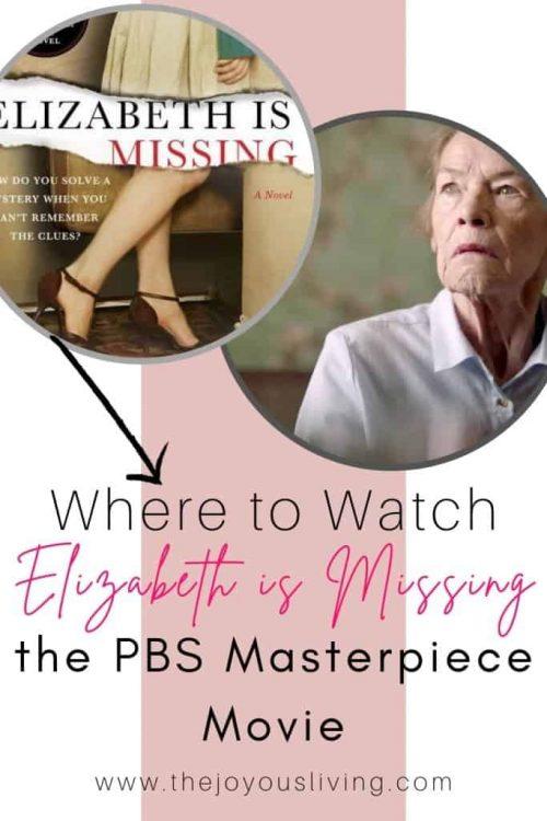 PBS Masterpiece Shows. Elizabeth is Missing.