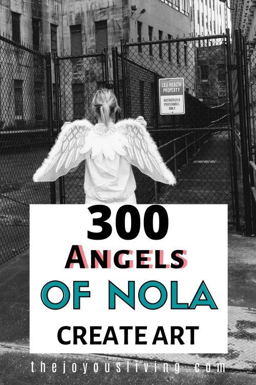 300 Angels of NOLA create art