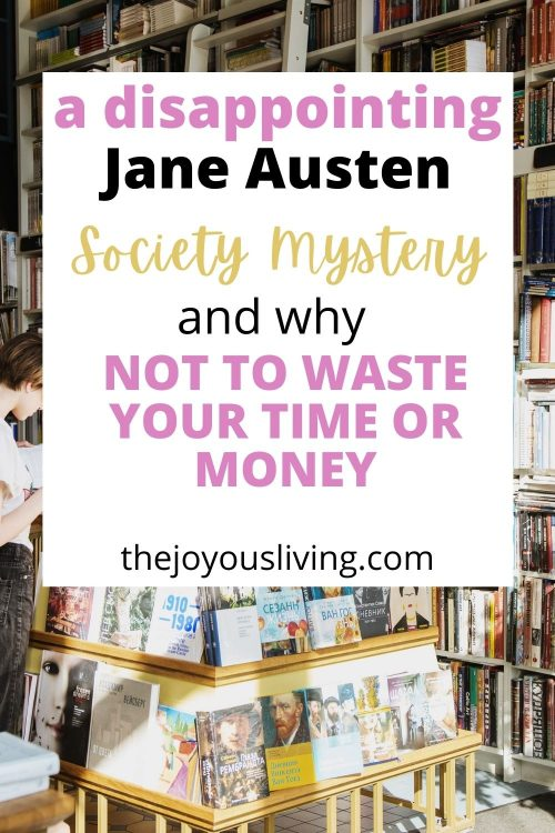 Jane Austen Society Mystery Review