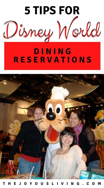 5 tips for Walt Disney World Dining Reservations