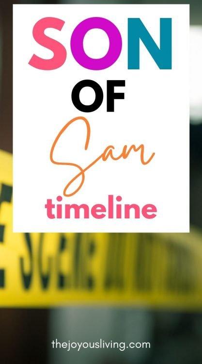 sons of sam timeline