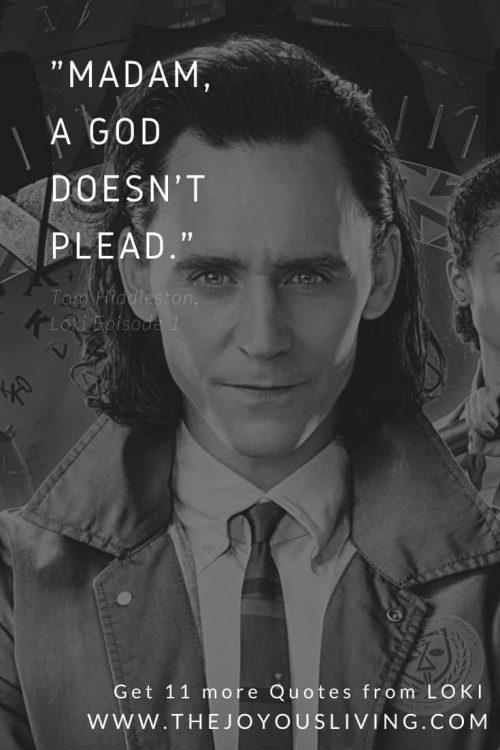 Tom Hiddleston quote from Loki Series Premiere