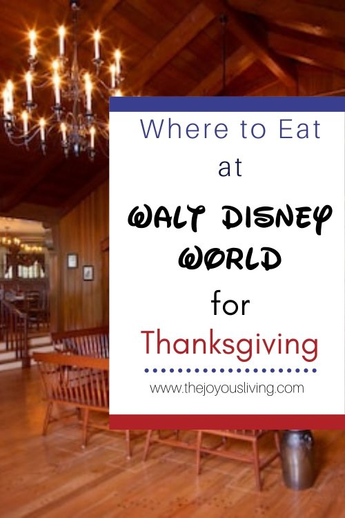 Where to Eat at Walt Disney World for Thanksgiving